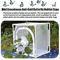 夏の蝶観察ケージ折りたたみ昆虫ネット昆虫ケージ蝶バッタ生息地飼育箱-40x30x40cm