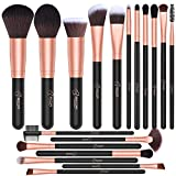 BESTOPE 18 Pcs Makeup Brushes Premium Synthetic Fan Foundation Powder Kabuki Brushes Concealers Eye Shadows Make Up Brushes Set