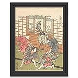 Printed Paintings Marco Americano (60x80cm): Ishikawa Toyomasa - El Quinto Mes