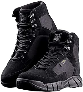 FREE SOLDIER Men's 6 Inch Tactical Boots Four Season Lightweight Military Boots for Hiking Work Boots Breathable Desert Boots(Black, 9.5)