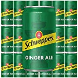 Schweppes Ginger Ale, 7.5 Fl Oz Mini Can (Pack of 18, Total of 135 Oz)