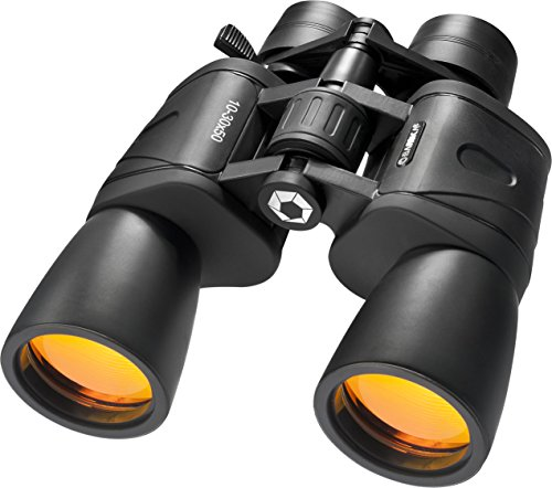 BARSKA unisex-adult 10-30x50 Zoom Gladiator Binocular Black/Black, 21.1 x 7.9 x 24.1