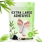 POSITIVA Premium Foot Pads - All Natural Bamboo Vinegar Detox Foot Pads - Cleansing Foot Detox Pads - Pack of 30