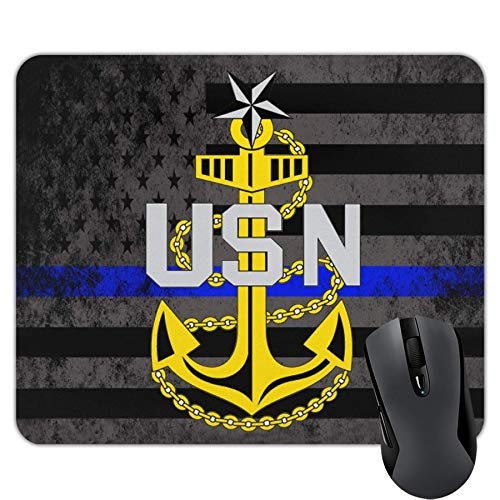 US Navy Senior Chief Petty Officer Rank Insignia Mouse Pads Non-Slip Gaming Mouse Pad Mousepad