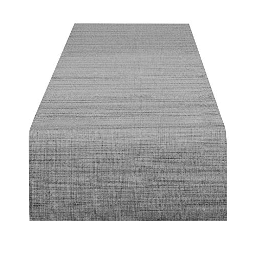 Delindo Lifestyle Camino de mesa SAMBA gris antracita, impermeable, antimanchas, casa y jardin, moderno, rectangular 40x140 cm