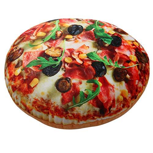 FKIHK SitzkissenAbnehmbare dekorative Plüschkissen Simulation Pizza Stuhlkissen Baumwollkissen Kissen, Multi, Siehe unten für Größenbeschreibungen