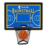 Exacme Trampoline Accessoires, Basketballkorb-Set, Backboard+ Korb + Ring+ Netz, Mehrfarbig BH07 (Blau)
