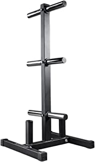REP FITNESS Olympic Bumper Plate and Bar Holder - Weight Tree Storage Rack