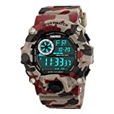 Skmei Multifunction Military Red Digital Sports Watch for Men's & Boys.