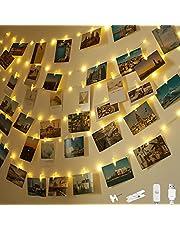 LED fotoklämmor ljuskedja, ljuskedja med klämmor för foton vägg ljuskedjor gör-det-själv-bilder för rum, vardagsrum jul bröllop
