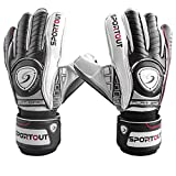 Sportout Youth Adult Goalie Goalkeeper Gloves,Football gloves, Strong Grip for The Toughest Saves