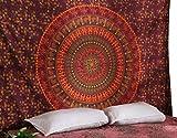 Tapiz Pared - Tapices Mandala Hippie Colgar en la Pared Boho Bohemio Tapiz Indio Toalla de Playa Camel Tapestry Red Wall Hanging - Rojo - 213 x 137 cm