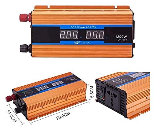 Inversor de Potencia, 600W - 2600W 12V 24V 48V 60V 72V a AC 220V Potencia Continua Modificado Inversor de Onda sinusoidal, inversor automático Camping Durable (Color : 600w, Size : 60V)