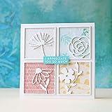 Stanzformen für Kartenherstellung, Quadrate, Blumenmuster, Metall, für Bastelarbeiten, Scrapbooking, Fotoalbum, Papierkarten, silberfarben