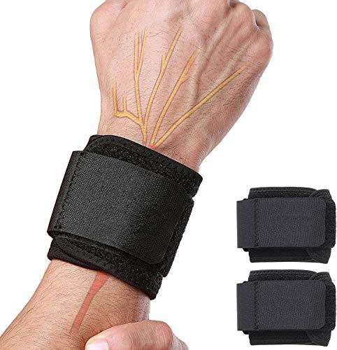 Libershine Fasce da Polso, 2 PZ Polsiere per Sollevamento Pesi Polsini Palestra Resistenti per Fitness, Corpo Libero, Bodybuilding & Allenamenti di Forza, Wrist Wraps Professionali per Stabilizzare