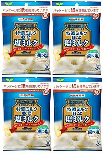 味覚糖 特濃ミルク8.2  塩ミルク 75g×4袋セット