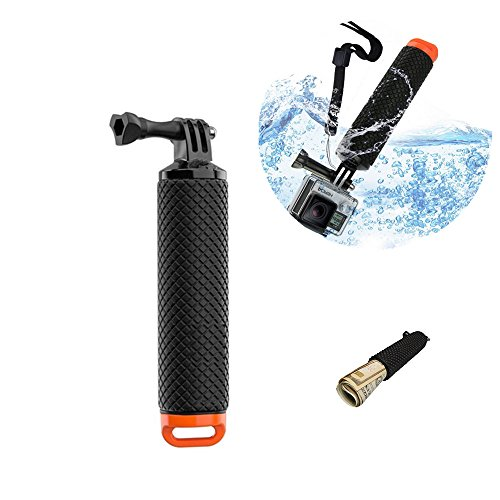 MeetRade Schwimmender Handgriff, wasserdicht, für Unterwassersport, Selfie-Stick, Einbeinstativ, Tauchstativ, Halterung für Go/Pro HD He,ro 2, 3, 3+, 4, 5, 6, Xiao,mi Xiao,Yi Action-Kamera (Orange)