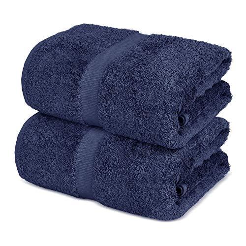 OEIGCI Toalla de baño Grande, 100% algodón, 2 Piezas de sábana de baño de Hotel de Lujo, Toallas Suaves Altamente absorbentes, Uso Diario, 35 x 70 Pulgadas (F)