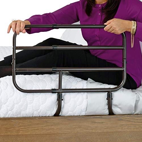 Able Life Bedside Extend-A-Rail, Adjustable Senior Bed Safety Rail and Bedside Standing Assist Grab...