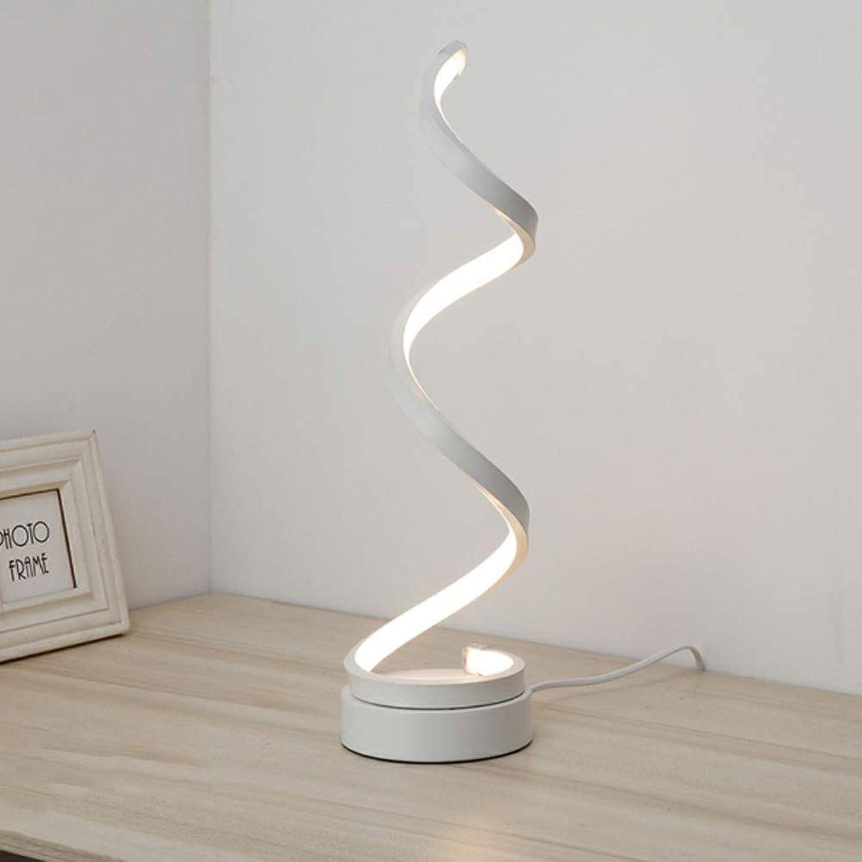 MOCHEN Schreibtischlampen-Kreative Kunstwohnzimmerlampe Acryllampe Aluminiumnachttischlampe Schlafzimmerdekoration lamp Geeignet für Wohnzimmer Schlafzimmer Büro (wei Gold)