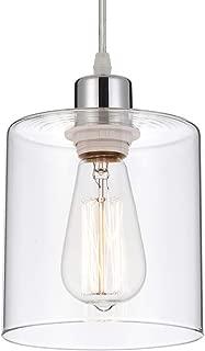 glass and chrome pendant lights