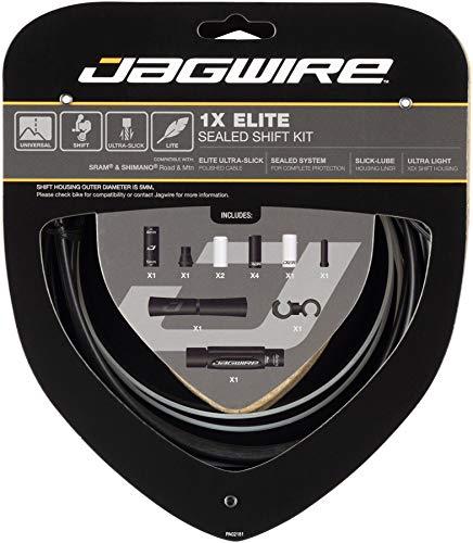 Jagwire 1X Elite Sealed Shift Kit de Fundas y Cables de desviador para Adultos, Unisex, Negro, Talla única