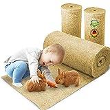 Nagerteppich aus 100% Hanf auf Rolle mit 10m Länge, 40cm Breite, 5mm dick (8,23 Euro / m2) Hanfteppich für alle Arten Kleintiere, Hanfmatte Nagermatte Nager-Teppich