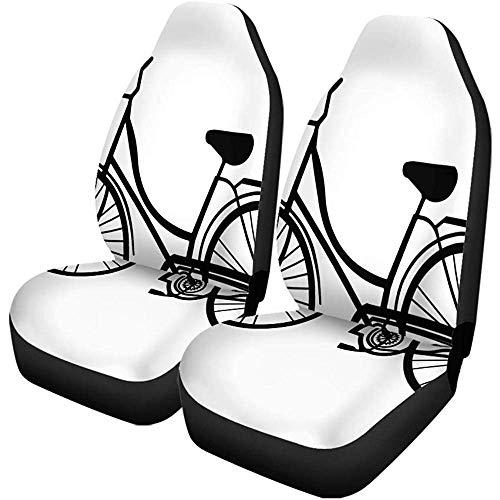 Enoqunt Autostoelhoezen voor auto, fiets, vintage, strand, klassiek, zwart, voor wedstrijden, cruisers, fietsers, universele autostoelen
