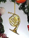 MindaMusic Gold Music French Horn Musical Instrument Ornament New