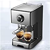 LSHUNYDE Utensilios para café Cafetera en cápsulas 1.2L 8 tazas negro - café (Independiente, cafetera en cápsulas, granos de café, cápsulas de café, negro, botones),Negro