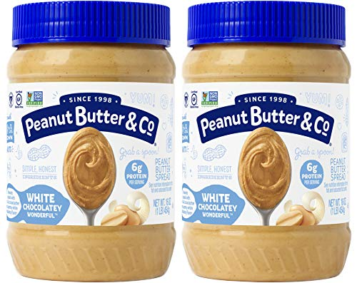 Peanut Butter & Co. White Chocolatey Wonderful Peanut Butter, Non-GMO Project Verified, Gluten Free, Vegan, 16 Ounce (Pack of 2)