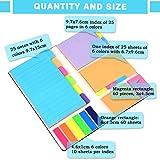 YOTINO Notes Autocollantes en 6 Formats 7 Couleurs, Marqueurs Adhésifs pour Fournitures de Bureau et Quotidien (526 Pcs)