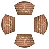 Juego de 4 manteles individuales de mesa redondos, de madera...