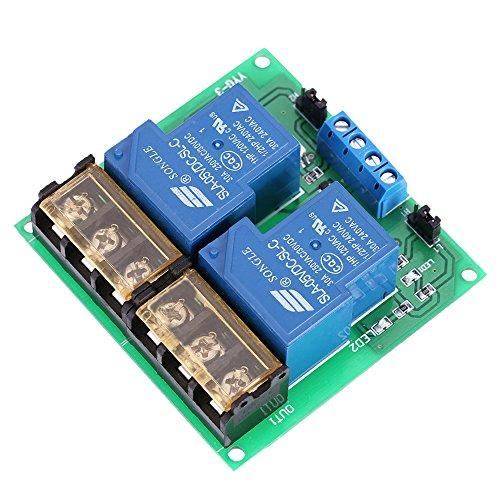 KKmoon 2-Kanal-DC 5V 30A Relay Board Modul Optokoppler Isoliert High/Low Trigger Relais-Modul