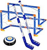 XMY Hockey Juguetes para niños-LED Hockey Hover Set-Hockey Juguetes para los 3-12 años Niños Niñas Mejor Regalo-Deportes Hockey Mini Meta Conjunto