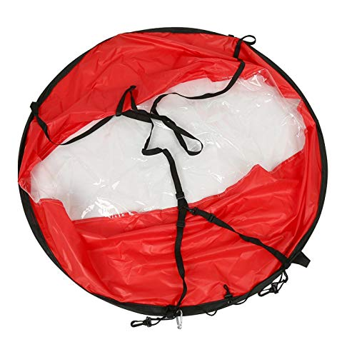 FOLOSAFENAR Accesorios para Kayak de Vela a Favor del Viento Resistentes con Bolsa de Almacenamiento Transparente Adecuado para Kayaks, canoas, etc.(Red)