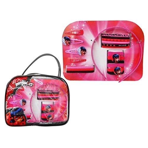 Disney - Kit de Ladybug con 20 Accesorios para Cabello -