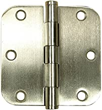 Hinge Outlet Stainless Steel Door Hinges 3.5 Inches with 5/8 Inch Radius - Highly Rust Resistant - Non Removable Pin - 2 Pack