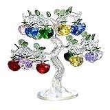Non-brand Decoración de Adornos de árbol de Manzana de Cristal para el Hogar Dormitorio Oficina Bar Escritorio Fiesta Boda Cumpleaños Año Nuevo
