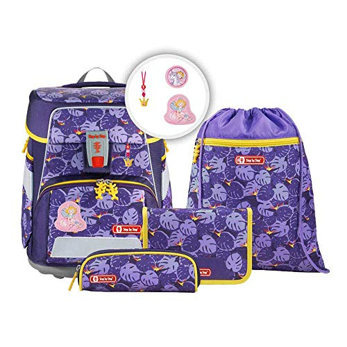 Step b Step Space Schulranzen Set (5tlg) Jungle Cat mit wählbaren Magic Mags (Prinzessin Lillifee, Rosarien)