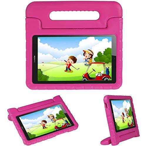 IMOSHION kompatibel mit Huawei MediaPad T3 10 inch Hülle – Tablethülle für Kinder – Tablet Kids Hülle in Pink mit Griff & Ständer [Robust, Handgriffig, Stoßfest]