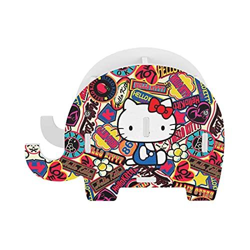 Hello Kitty - Soporte para lápices con soporte para teléfono, accesorios de oficina divertidos, organizador de escritorio