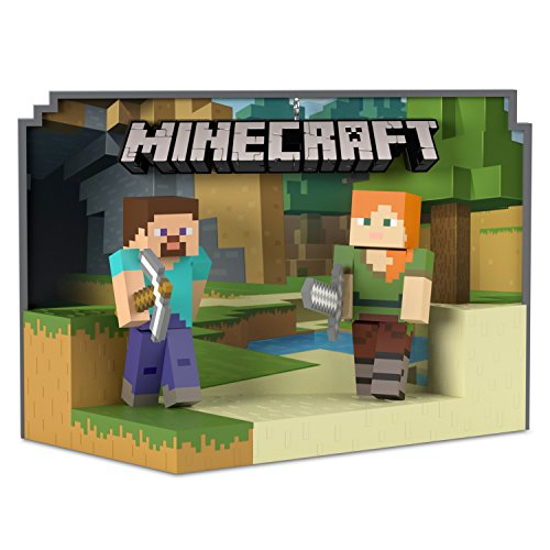 Hallmark Keepsake Christmas Ornament 2018 Year Dated, Minecraft Steve and Alex