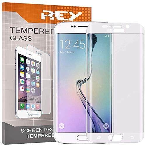 REY Pack 2X Pellicola salvaschermo 3D per Samsung Galaxy S7 Edge, Bianco, Copertura Completa, Pellicola Protettiva Protezione Schermo, 3D / 4D / 5D