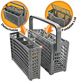 Universal Dishwasher Silverware Replacement Basket - Utensil/Cutlery Basket - Compatible with Bosch, Maytag, Kenmore, Whirlpool, KitchenAid, LG, Samsung, Frigidaire, GE