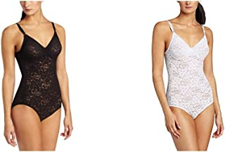 Women's Shapewear Lace 'N Smooth Body Briefer - 38D - Black/White
