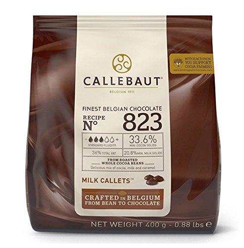 Chocolate con leche en gotas 33,6% Callebaut en bolsa 400 gramos