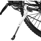 qinjun 1 soporte para bicicleta, aleación de aluminio, soporte lateral para bicicleta de 16 pulgadas, 20 pulgadas, 24 pulgadas, 26 pulgadas, 26 pulgadas
