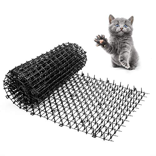 Gardentisan Scat Mat for Cats with Petsafe Plastic Spikes Large Indoor Outdoor Cat Scat Mat 78'x11'