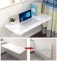壁折りたたみテーブルホワイト、小さなスペース用のドロップリーフ折りたたみダイニングテーブル、コンピューターデスク、コンバーチブルデスク、22サイズ